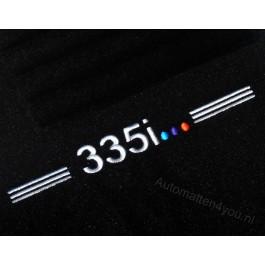 """Automatten BMW 3 serie in hoogwaardig velours Logo """"335i """""""