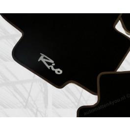 Automatten Kia RIO in hoogwaardig velours met logo
