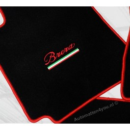 Automatten ALFA Brera in hoogwaardig velours met logo
