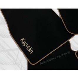 Automatten in hoogwaardig velours met logo Kapitän