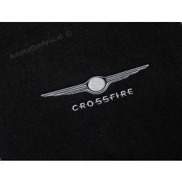 Automatten Chrysler Crossfire in hoogwaardig velours met logo 5