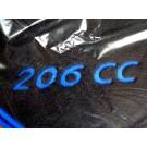 Automatten Peugeot met logo 206 CC (1) in hoogwaardig velours