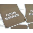 "Automatten Mercedes CLK met logo ""CLK 240 Elegance"""