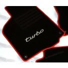 Mattenset PORSCHE in hoogwaardig velours met TURBO logo