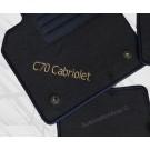 """Automatten VOLVO C70 in hoogwaardig velours met logo """"C70 cabriolet"""""""
