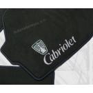 """Automatten Rover in hoogwaardig velours met logo """"Cabriolet"""" logo"""