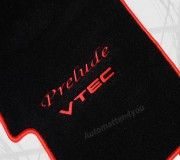 Automatten Honda Prelude in hoogwaardig velours met logo Prelude Vtec
