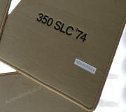"""Mattenset Mercedes W107 velours met logo """"350 SLC '74"""""""